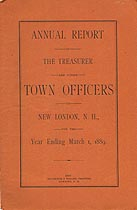 Thumbnail image of New London, New Hampshire, 1889, Town Report cover
