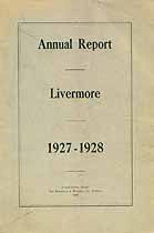 Thumbnail image of Livermore, Maine, 1928, Town Report cover