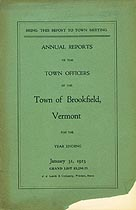 Thumbnail image of Brookfield, Vermont,1923, Town Report cover