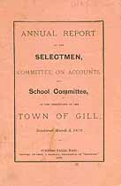 Thumbnail image of Gill, Massachusetts, 1879, Town Report cover