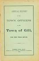 Thumbnail image of Gill, Massachusetts, 1898, Town Report cover