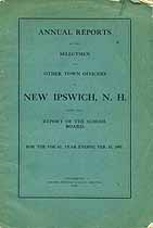 Thumbnail image of New Ipswich, New Hampshire, 1907, Town Report cover
