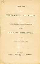 Thumbnail image of Hopkinton, New Hampshire, 1867, Town Report cover