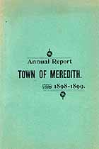 Thumbnail image of Meredith, New Hampshire, 1898-1899, Town Report cover