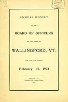 Thumbnail image of Wallingford, Vermont, 1903, Town Report cover