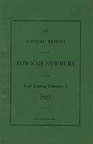 Thumbnail image of Newbury, Vermont, 1927, Town Report cover