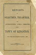 Thumbnail image of Kingston, New Hampshire, 1880, Town Report cover