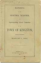 Thumbnail image of Kingston, New Hampshire, 1882, Town Report cover