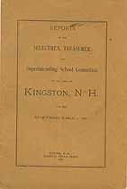 Thumbnail image of Kingston, New Hampshire, 1886, Town Report cover