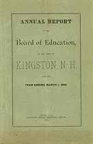 Thumbnail image of Kingston, New Hampshire, 1889, Town Report cover