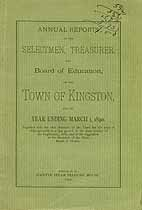 Thumbnail image of Kingston, New Hampshire, 1890, Town Report cover