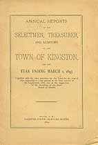Thumbnail image of Kingston, New Hampshire, 1893, Town Report cover
