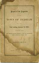 Thumbnail image of Dedham, Massachusetts, 1868, Town Report cover