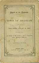 Thumbnail image of Dedham, Massachusetts, 1866, Town Report cover