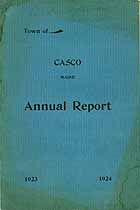 Thumbnail image of Casco, Maine, 1924, Town Report cover