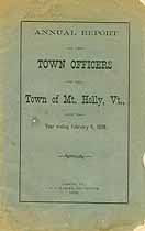 Thumbnail image of Mt. Holly, Vermont, 1899, Town Report cover