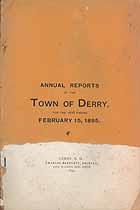 Thumbnail image of Derry, New Hampshire, 1895, Town Report cover