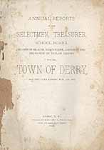 Thumbnail image of Derry, New Hampshire, 1896, Town Report cover